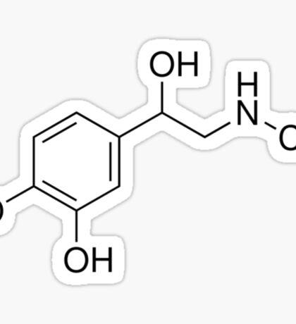 Epinephrine Molecule Sticker