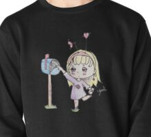 Cute chibi girl delivering a valentine to the mail box Pullover