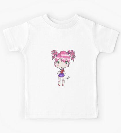 Holding My Heart - Anime style chibi girl Kids Tee
