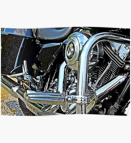 Motorcycle engine Poster