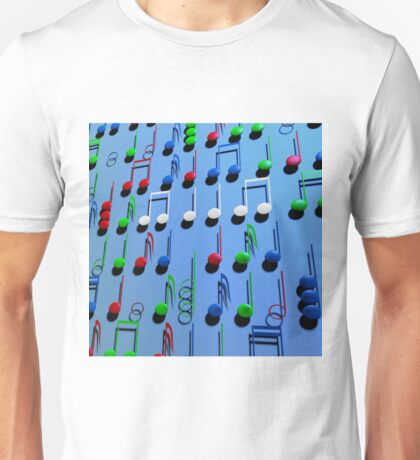 Colourful Musical Notes Unisex T-Shirt