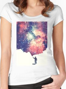 Painting the universe Women's Fitted Scoop T-Shirt