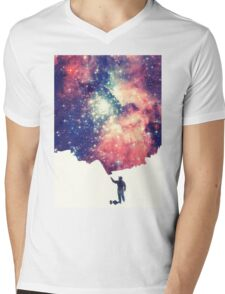 Painting the universe (Colorful Negative Space Art) Mens V-Neck T-Shirt