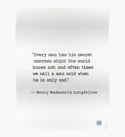 Henry Wadsworth Longfellow Poster