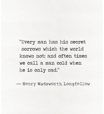 Henry Wadsworth Longfellow Sticker