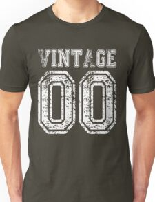 Vintage 00 2000 T-shirt Birthday Gift Age Year Old Boy Girl Cute Funny Man Woman Jersey Style Unisex T-Shirt