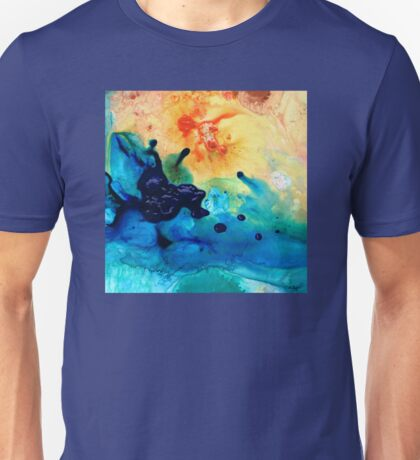Colorful Abstract Art - Blue Waters - Sharon Cummings Unisex T-Shirt