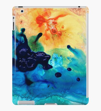 Colorful Abstract Art - Blue Waters - Sharon Cummings iPad Case/Skin