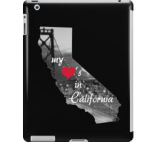 My Heart's in CA iPad Case/Skin