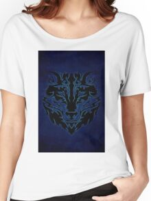 Blue Tribal Wolf  Women's Relaxed Fit T-Shirt