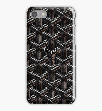goyard-black collar-case iPhone Case/Skin