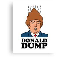 Donald Dump Funny Hilarious Political Parody Tshirt Canvas Print