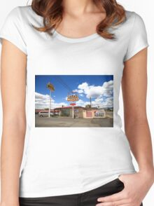 Route 66 - Sands Motel Women's Fitted Scoop T-Shirt