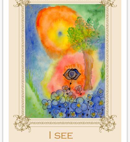 I see - Tree affirmation card Sticker