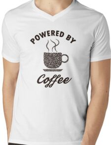 Powered By Coffee Mens V-Neck T-Shirt