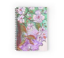 Cherry Blossom Floral Spiral Notebook
