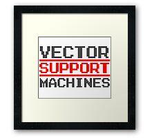 Support vector machines logo (8-bit) Framed Print