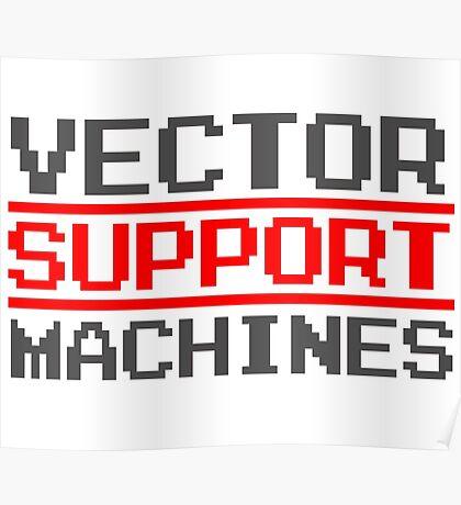 Support vector machines logo (8-bit) Poster