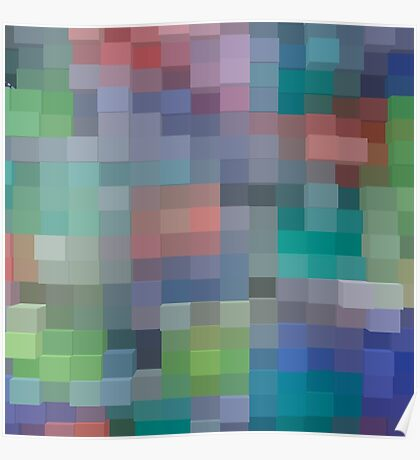 Abstract pixel pattern Poster