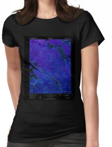 USGS TOPO Map California CA Spring Garden 300642 1950 24000 geo Inverted Womens Fitted T-Shirt