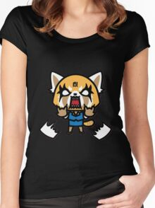 Aggretsuko (V1) Women's Fitted Scoop T-Shirt