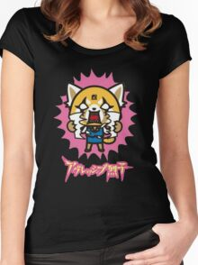 Aggretsuko (V2) Women's Fitted Scoop T-Shirt