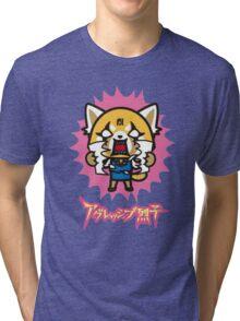 Aggretsuko (V2) Tri-blend T-Shirt