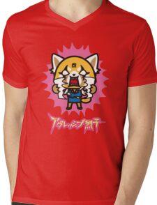 Aggretsuko (V2) Mens V-Neck T-Shirt