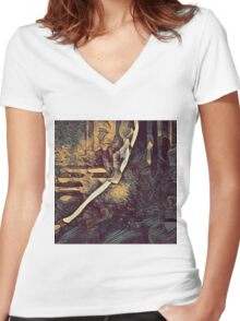 Graphic R4 Women's Fitted V-Neck T-Shirt