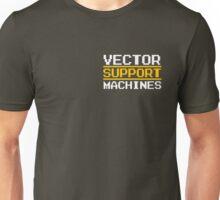 Support vector machines logo, white (8-bit) Unisex T-Shirt