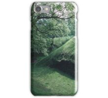 Moat at Castle Grosmont Wales 19840518 0022 iPhone Case/Skin