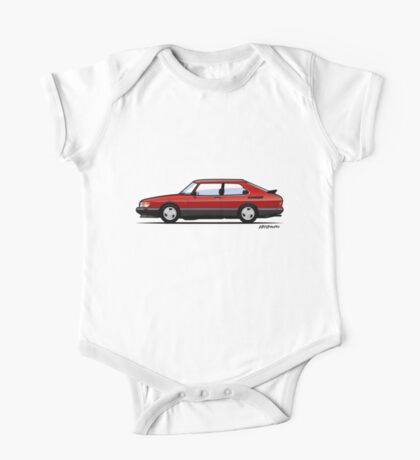 Saab 900 Turbo Classic Talladega red One Piece - Short Sleeve