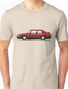 Saab 900 Turbo Classic Talladega red Unisex T-Shirt