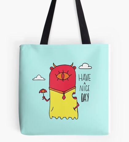 Have a Nice Day Illustration Tote Bag