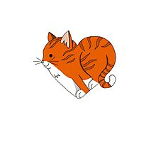 Heart Ginger Cat Photographic Print