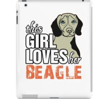 This Girl Loves Her Beagle iPad Case/Skin