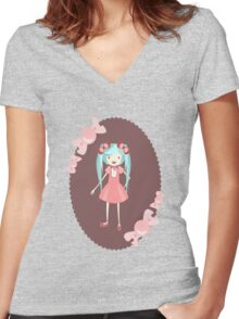 miku Women's Fitted V-Neck T-Shirt