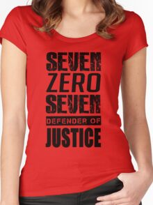 SEVEN, Defender of Justice Mystic Messenger Collection Women's Fitted Scoop T-Shirt