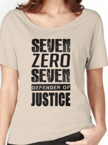 SEVEN, Defender of Justice Mystic Messenger Collection Women's Relaxed Fit T-Shirt