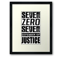 SEVEN, Defender of Justice Mystic Messenger Collection Framed Print