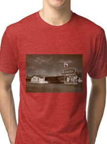 Route 66 - Tucumcari, New Mexico Tri-blend T-Shirt