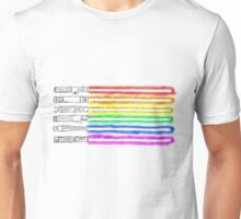 Homosexual Pride with lightsabers Unisex T-Shirt