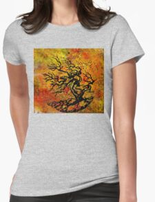 Old and Ancient Tree - Autumn Shades  Womens Fitted T-Shirt