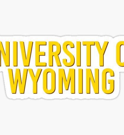 University of Wyoming Sticker
