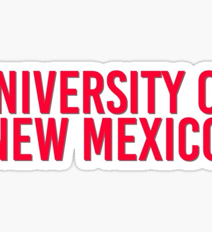 University of New Mexico Sticker