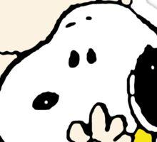 Charlie Brown hugging Snoopy Sticker