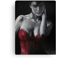 Red Corset #4 Canvas Print
