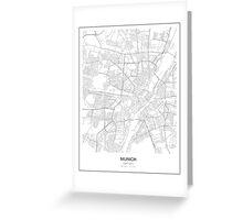 Munich, Germany Minimalist Map Greeting Card