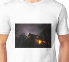 Spooky Lightning House Unisex T-Shirt