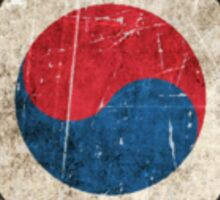 Vintage Aged and Scratched South Korean Flag Sticker